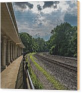 Valley Forge Train Station  Wood Print