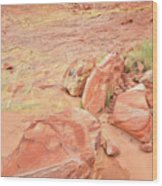 Valley Of Fire's Wash 3 Wood Print