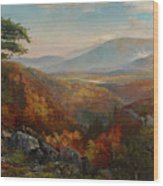 Valley Of The Catawissa In Autumn Wood Print