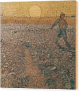 Van Gogh: Sower, 1888 Wood Print
