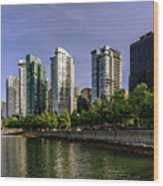 Waterfront Of Vancouver, Canada Wood Print