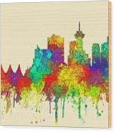 Vancouver B.c. Skyline Wood Print