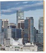 Vancouver Skyline Wood Print