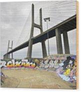 Vasco Da Gama Bridge Wood Print