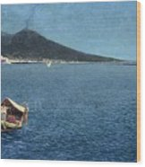 Veduta Del Vesuvio Wood Print
