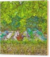 Vegetable Garden Wood Print