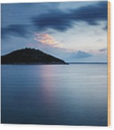 Veli Osir Island At Dawn, Losinj Island, Croatia. Wood Print