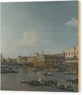 Venice   The Basin Of San Marco On Ascension Day Wood Print