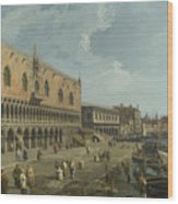 Venice   The Doges Palace And The Riva Degli Schiavoni Wood Print