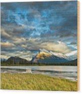 Vermilion Lakes Wood Print