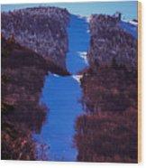Vermonts Sugarbush Mountain Wood Print