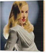 Veronica Lake, Hollywood Legend 1 Wood Print