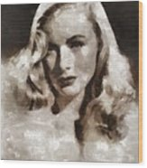 Veronica Lake Vintage Hollywood Actress Wood Print