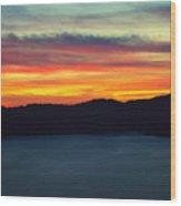 Vibrant Skies  Wood Print