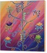 Vibrant Tree Of Life Wood Print