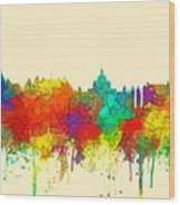 Victoria B.c. Skyline Wood Print