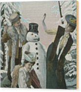 Victorian Christmas Card Wood Print