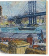 View From Brooklyn Bridge Wood Print