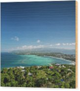 View Of Boracay Island Tropical Coastline In Philippines Wood Print