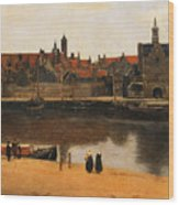View Of Delft Wood Print