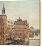 View On A River Wood Print