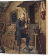 Village Violinist Wood Print