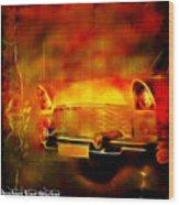 Vintage Car 2 Neons Edition Wood Print