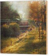 Vintage Diesel Locomotive Wood Print