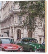 Vintage Green Wood Print