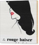 Vintage Paris Fashion Wood Print