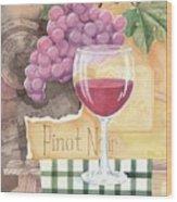 Vintage Pinot Noir Wood Print