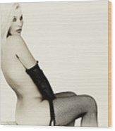 Vintage Pinup Glamour Wood Print