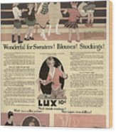 Sweaters Blouses And Stockings Vintage Soap Ad Wood Print