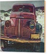 Vintage Studebaker Truck Wood Print