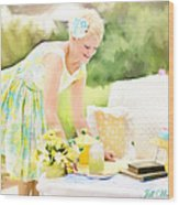 Vintage Val Iced Tea Time Wood Print