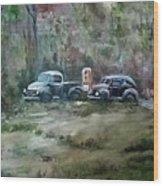 Vintage Vehicles Wood Print
