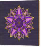 Violet Galactic Star Wood Print