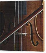 Violin Wood Print by Nichola Evans