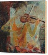 Violinist 67 Wood Print