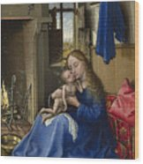 Virgin And Child In An Interior Wood Print