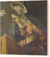 Virgin From The Annunciation To The Virgin Wood Print
