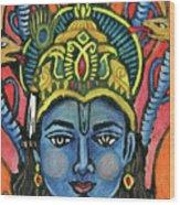 Vishnu Wood Print