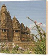Vishvanatha Temple In Khajuraho Wood Print