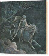 Vision Of Death Wood Print