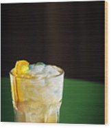 Vodka And Orange Screwdriver Classic Cocktail Drink Wood Print