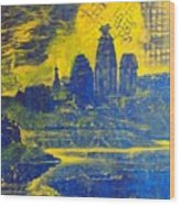 Vrindavan Spiritual Sky Wood Print