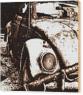 Vw Sepia Wood Print