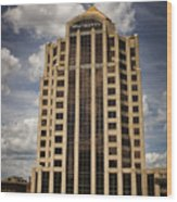 Wachovia Tower Roanoke Virginia Wood Print