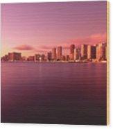 Waikiki At Sunset Wood Print
