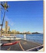 Waikiki Hawaii Wood Print